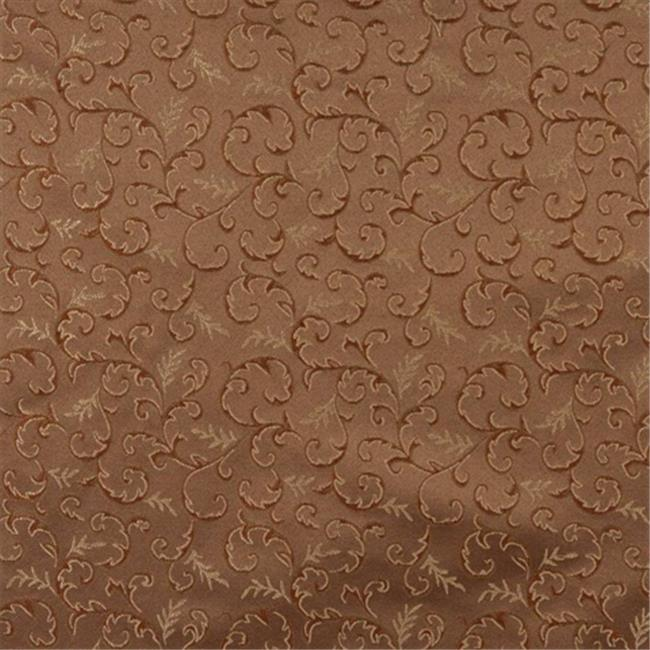 Designer Fabrics E641 54 inch Wide Abstract Floral Green, Brown And Gold Damask Upholstery And Window Treatment Fabric