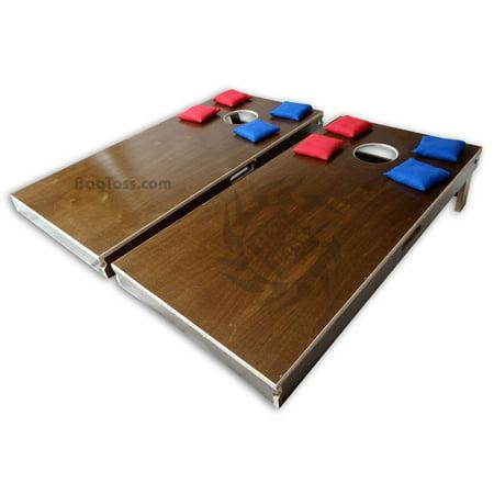 Professional Bag Toss Long Board Regulation Size Cornhole Game Set (4ft x 2ft, Classic Version - Heritage