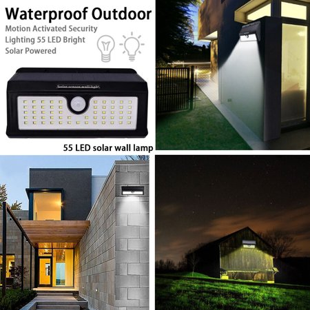 AIHOME Waterproof Outdoor Motion Activated Security Lighting 55 LED Bright Solar Powered Light for Patio, Deck, Yard, Garden - image 5 of 9