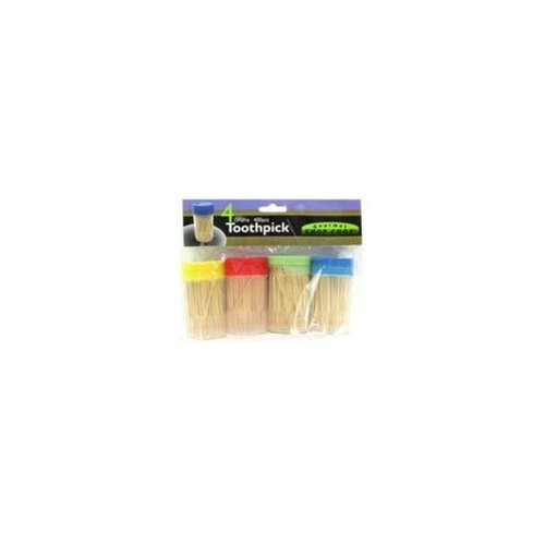 4 Pk Toothpick With Holder (72 Units Included)