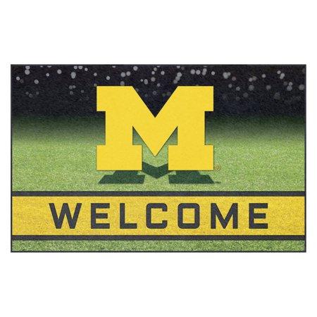 University of Michigan Crumb Rubber Door Mat Michigan Wolverines Football Rug
