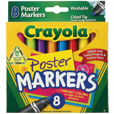 Crayola Washable Poster Marker Set, 8-Colors
