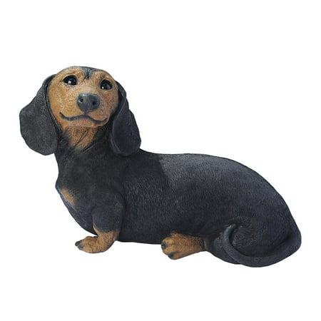 Black Dachshund Puppy Dog Statue