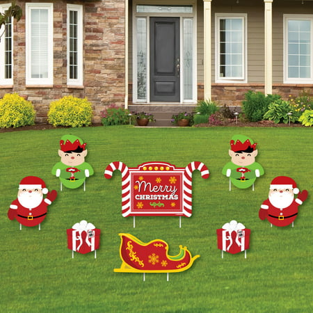 jolly santa claus merry christmas yard sign outdoor lawn decorations christmas yard signs