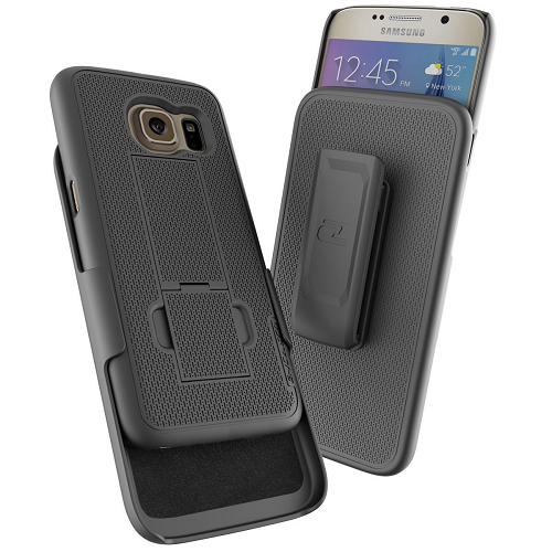 Galaxy S7 Belt Clip Case, Encased DuraCLIP [secure-fit] Holster w/ Slim Cover (Smooth Black)