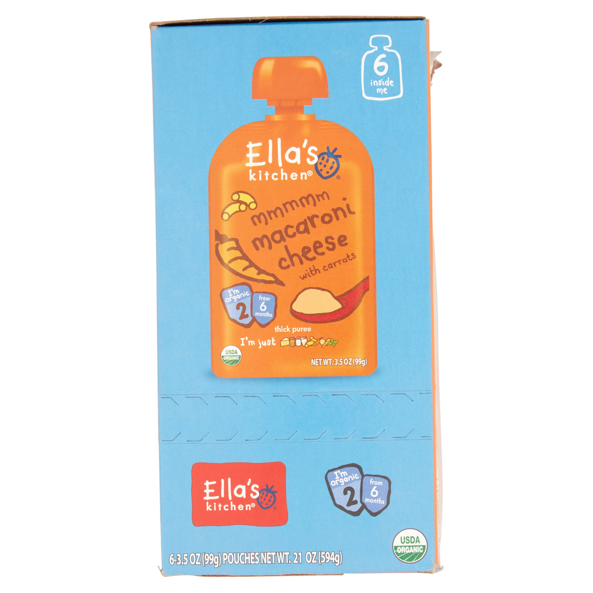 Ella\'s Kitchen 6+ Months Organic Baby Food, Macaroni Cheese with ...