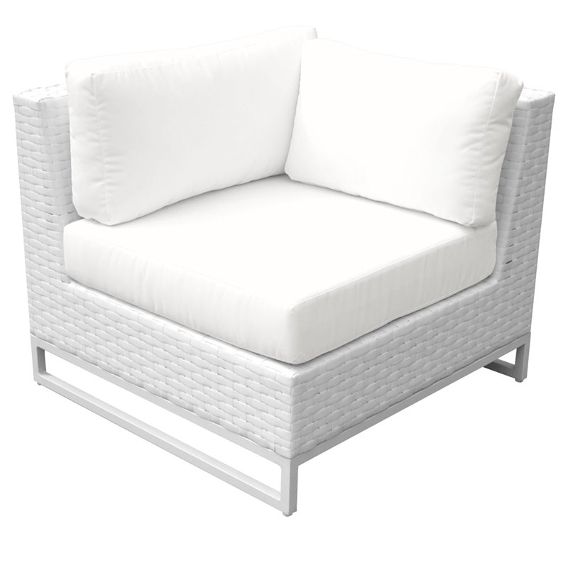 Tkc Miami Corner Patio Chair In White, How To Clean White Outdoor Furniture