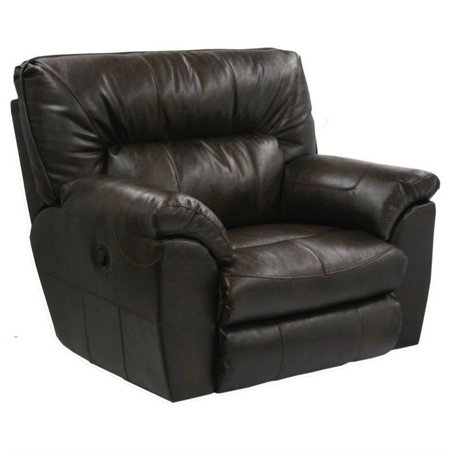 catnapper nolan leather power cuddler recliner in godiva