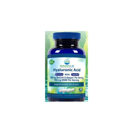 Hyaluronic Acid Biocell Collagen With Optimsm  180 Vegetarian Capsules  Natures Lab