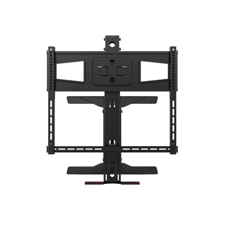 "Monoprice Above Fireplace Height Adjustable Swivel TV Pull Down Mantel Wall Mount for LCD LED Plasma Screen Displays 40""to 63"" 