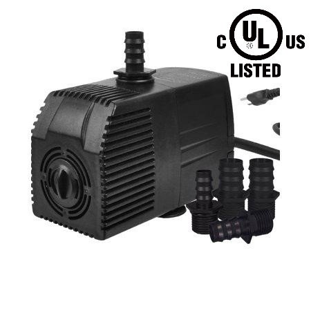 400 Pump - Simple Deluxe LGPUMP400G 400 GPH UL Listed Submersible Pump with 15' Cord for Hydroponics, Aquaponics, Fountains, Ponds, Statuary, Aquariums & more