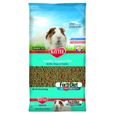 Kaytee Forti Diet Guinea Pig - Forti Diet Pro Health Guinea Pig Food, 10-Pound, Larger, crunchy pieces supports dental health through natural chewing activity By Kaytee Ship from US