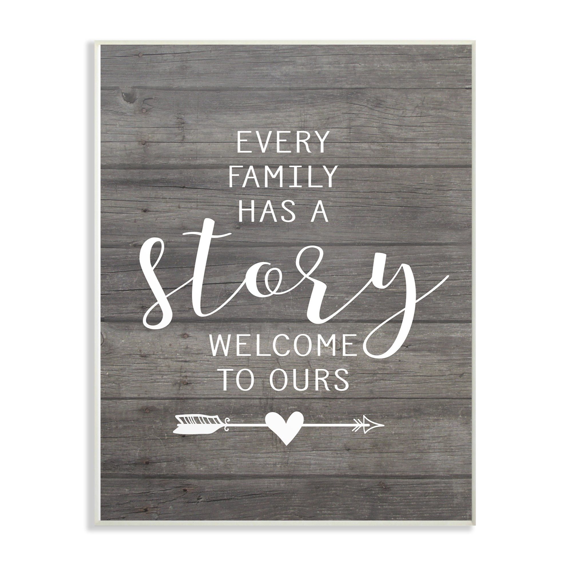 The Stupell Home Decor Collection Every Family Has A Story Oversized Wall Plaque Art, 13 x 0.5 x 19