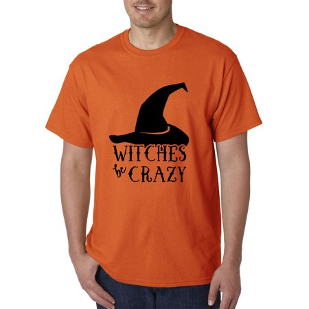 New Way 970 - Unisex T-Shirt Witches Be Crazy Halloween Spooky XL Orange
