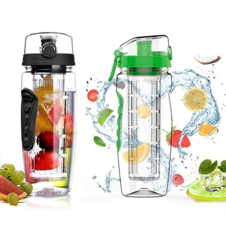 VicTsing 32oz Infuser Water Bottle, Sport Fruit Infuser Water Bottle, Toxin-Free, Shatter-Resistant and Impact-Resistant Tritan Copolyester Made