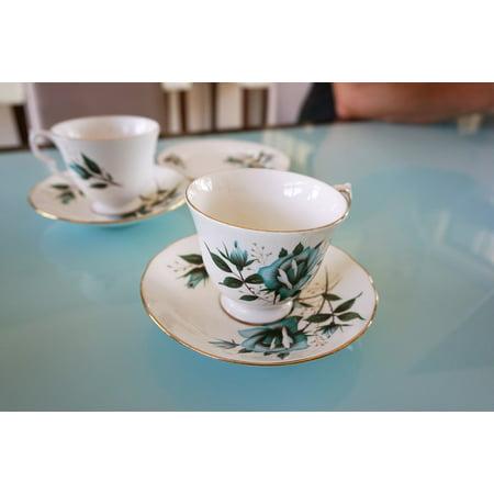 LAMINATED POSTER Floral China Afternoon Tea Vintage Saucer Tea Cup Poster Print 24 x 36 - Halloween Afternoon Tea 2017