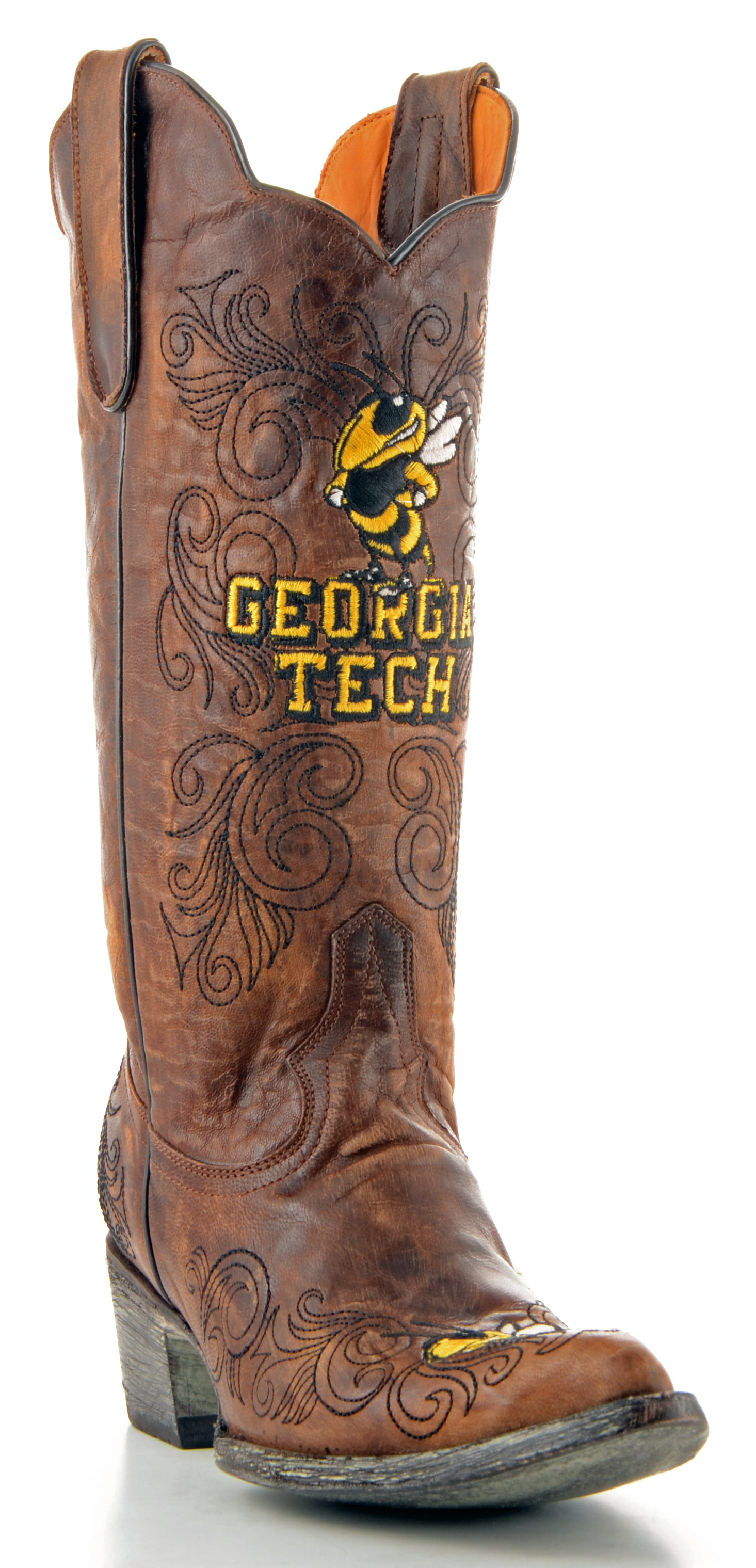 "Gameday Womens 13"" Leather Georgia Tech Cowboy Boots GT-L037 New by GameDay Boots"