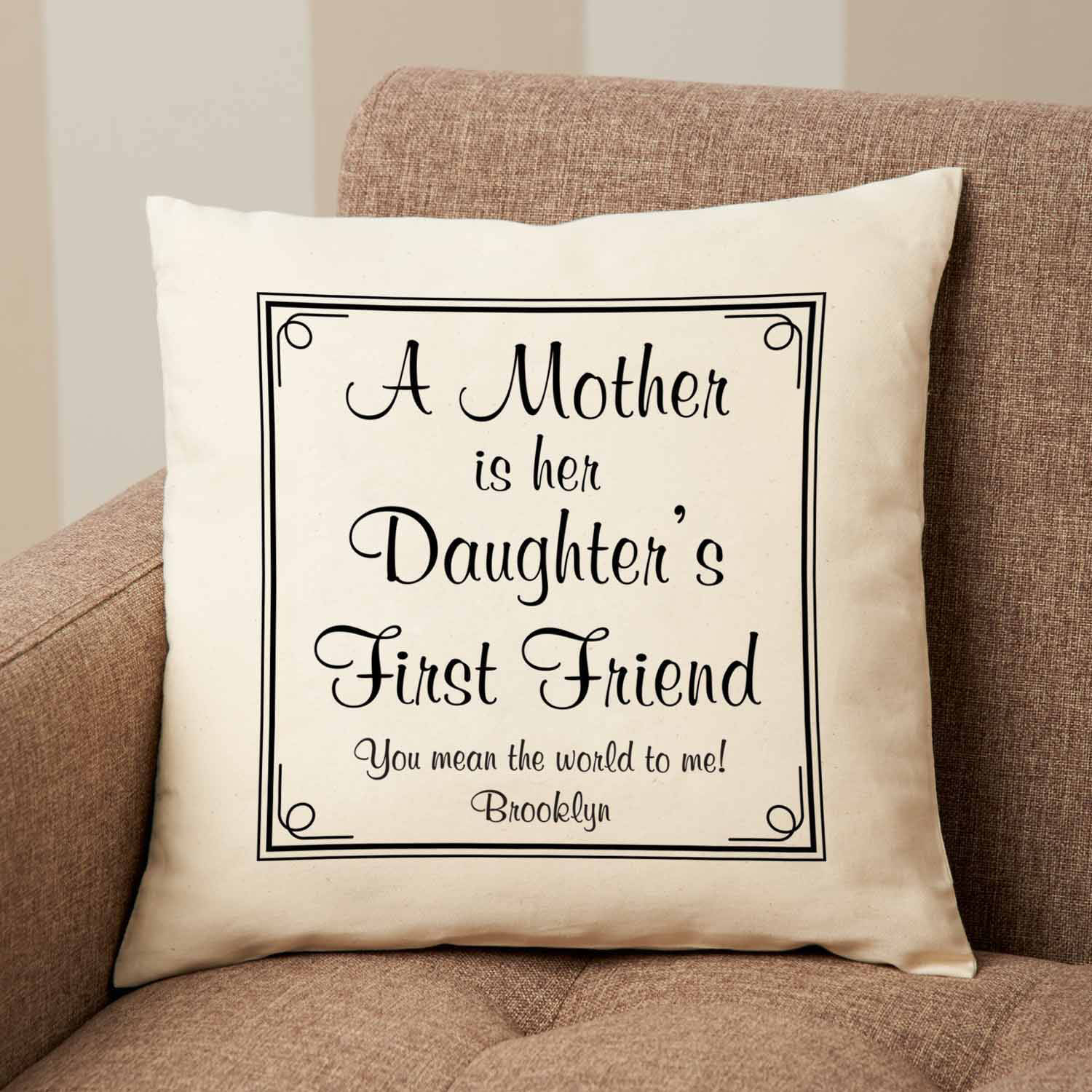 Personalized First Memories Pillow, Available in 2 Characters