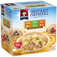 Quaker Instant Oatmeal Flavor Variety Pack 52-1.51 oz Packets Deals