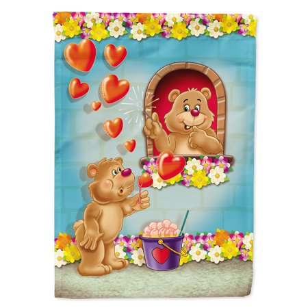 Juliets Garden (Teddy Bear Romeo and Juliet Love Garden Flag)