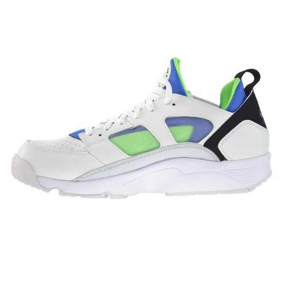 0c507ea8ad7b Nike Air Trainer Huarache Low Mens  Shoes White Scream Green-Royal Blue  749447-101 - Walmart.com