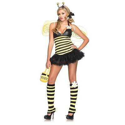 BUMBLE BEE bumblebee petticoat dress daisy sexy womens halloween costume M/L - Bumble Bee Costumes