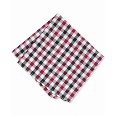 Red Gingham Pocket Square (Bar III NEW Red Black Cottica Gingham Patterned Cotton Pocket Square)