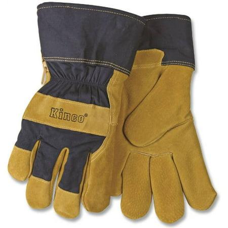Kinco 1926-M Lined Split Pigskin Leather Palm Gloves, Medium