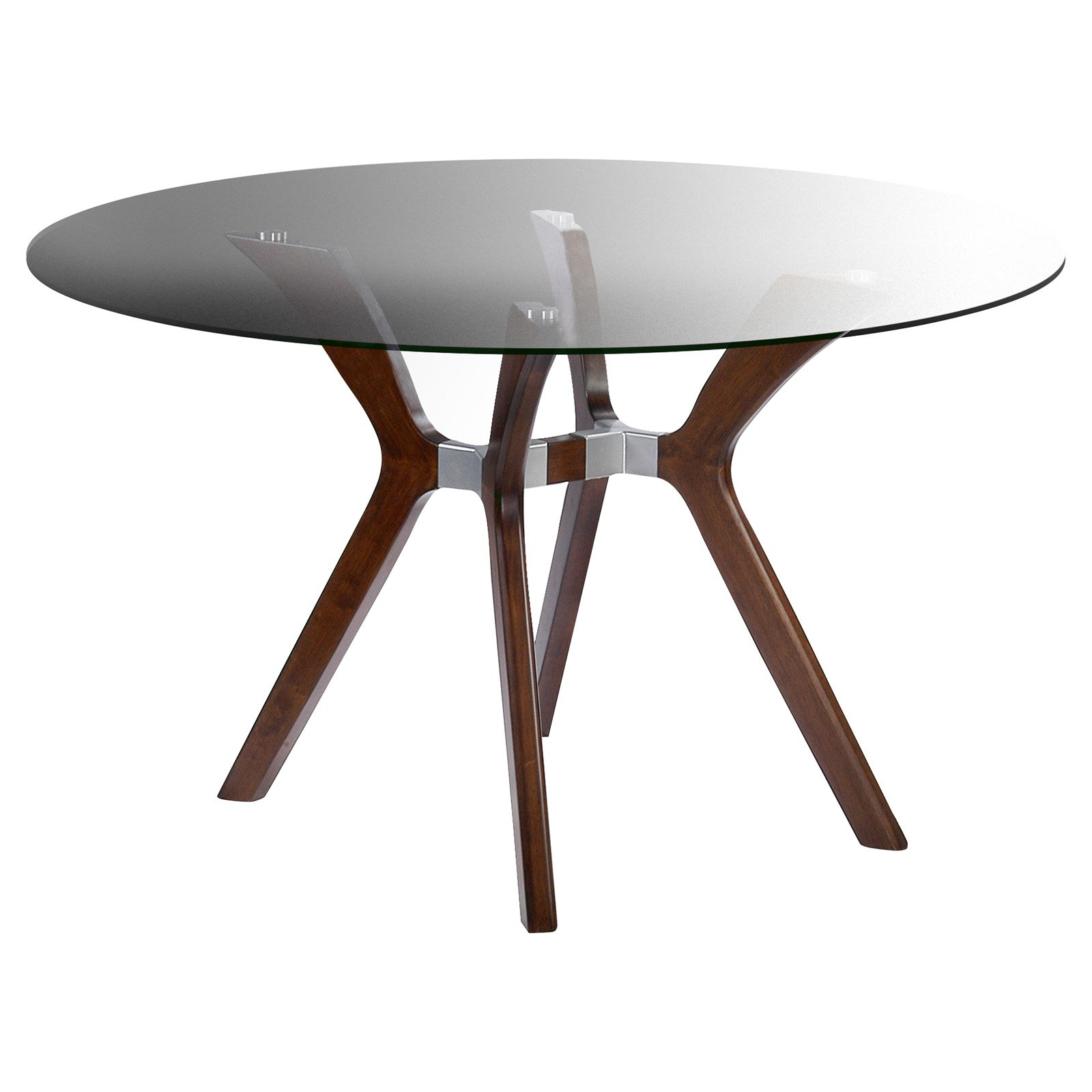 Chintaly Luisa Round Dining Table with Glass Top