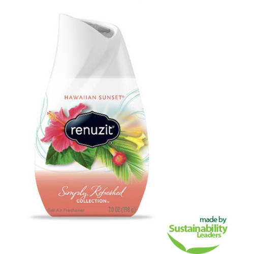 Renuzit Simply Refreshed Collection Hawaiian Sunset Gel Air Freshener, 7 oz