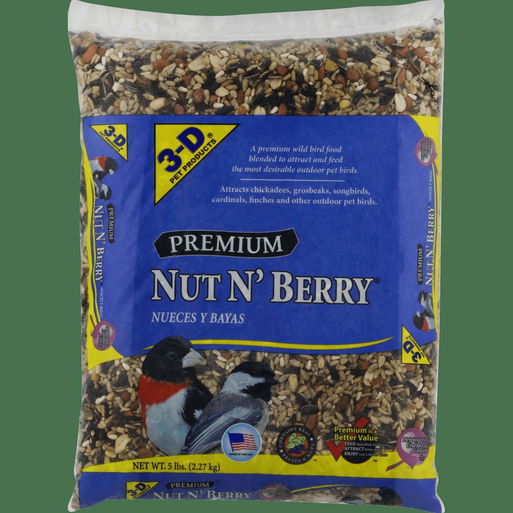 3-D Pet Products Premium Nut N' Berry Dry Wild Bird Food, 14 LB by D & D Commodities Ltd.