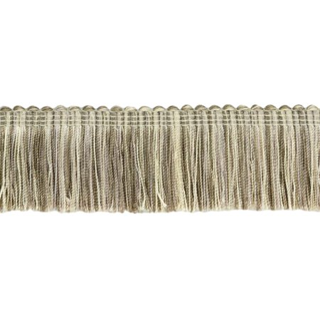 1.5' Brush Fringe (5 Yard Value Pack|Parchment, Dark Sand, Beige Duke Collection Brush Fringe Trim|2
