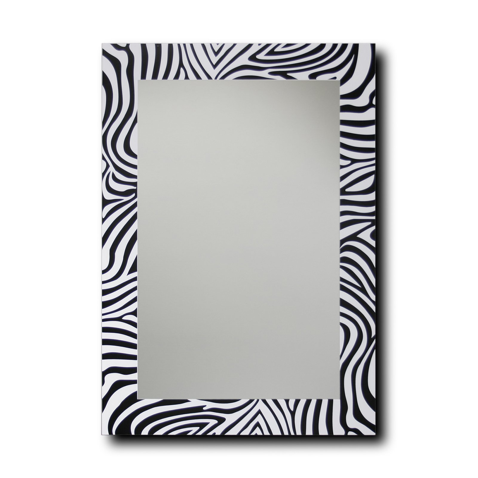 Leick Furniture Black and White Zebra Decorative Wall Mirror - 20 x 28 in.