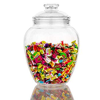 128 Ounce Candy Jar With Lid Premium Acrylic Clear Apothecary Jar Wedding Home Decor Centerpiece Cookie Candy Buffet Decorative Kitchen Storage Jar Walmart Com Walmart Com