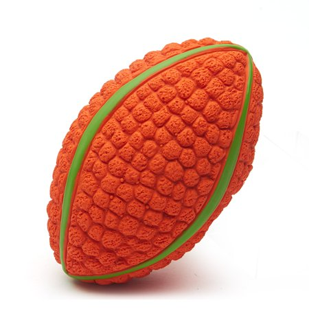 Dog Chewing Ball Rugby Ball Interactive Fetch Non-toxic Durable Chew Bite Toy for Dog Puppy Small Size - image 5 de 7