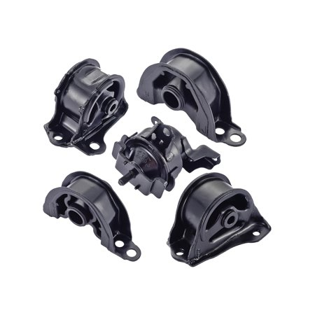 For 1996 1997 1998 1999 2000 Honda Civic 1.6L L4 Engine Motor & Trans Mount Set 5PCS A6520, A6502, A6556, A6506, (91 Honda Civic Engine)