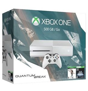 Xbox One 500GB White Console - Special Edition Quantum Break Bundle NEW