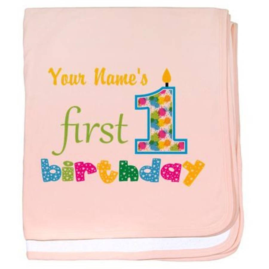 Cafepress Personalized First Birthday Baby Blanket