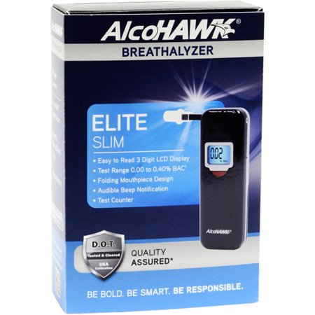 AlcoHAWK Elite Slim Breathalyzer Digital Breath Alcohol Tester