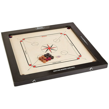 Surco Prime Tournament Speedo Carrom Board with Coins and Striker, 16mm