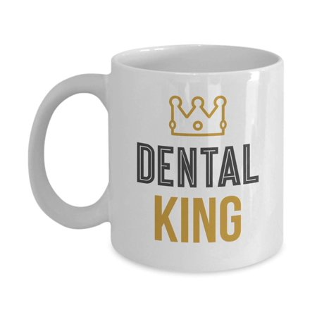 Dental King Crown White Coffee & Tea Gift Mug, Novelties, Office Décor, Party Supplies, Accessories, Utensils, Ornament, Products And Pen Container For A Professional Male