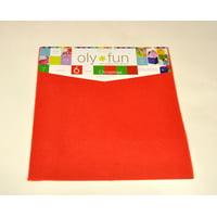 "Oly-Fun Multi-Purpose Polypropylene Fabric Craft Assortment - 6 pieces of 12"" x 12"" Sheets - Christmas"