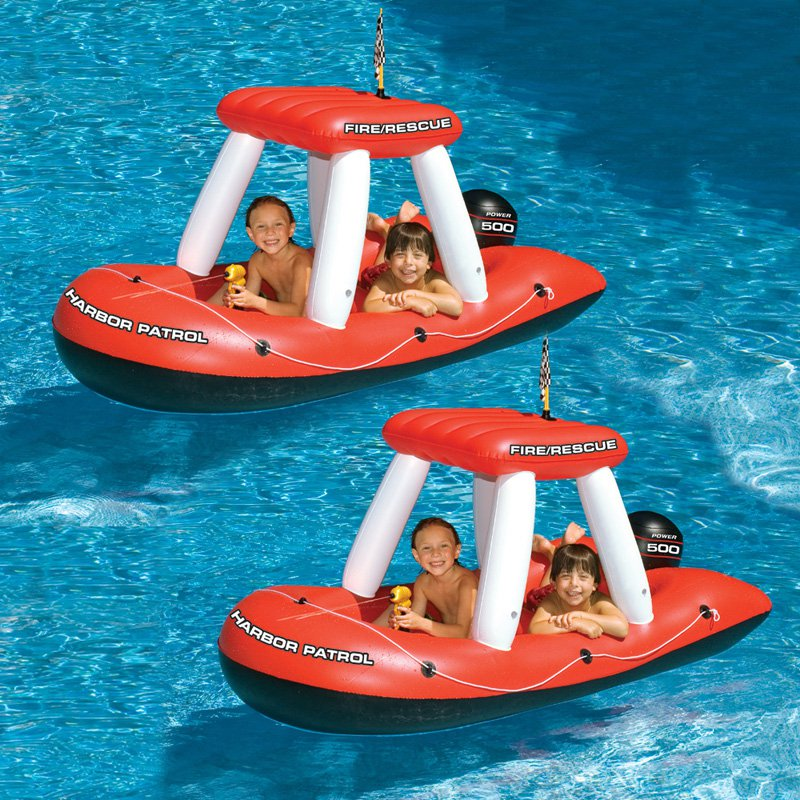 Swimline Fireboat Squirter Inflatable Pool Toy for Swimming Pools by Swimline