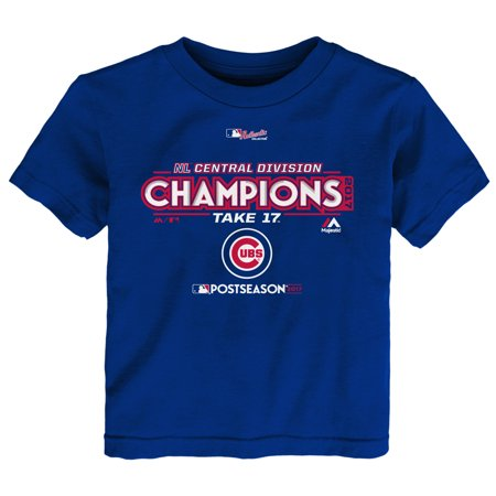 Chicago Cubs Majestic Toddler 2017 NL Central Division Champions Locker Room T-Shirt - Royal](Central Halloween 2017)