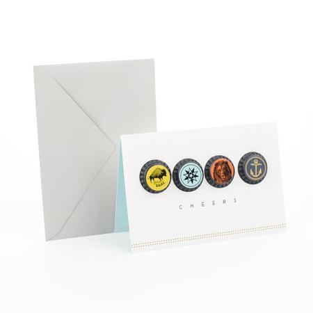 Graduation Cap Card Box (Hallmark Signature Birthday Greeting Card (Bottle)