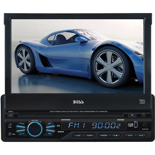 Boss Audio BV9965 DVD Receiver with Flip-Out Screen