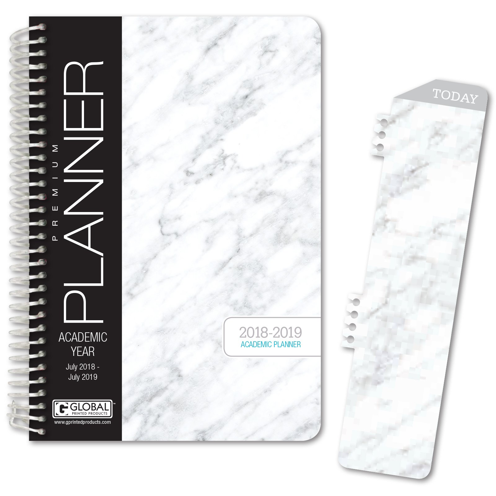image about Hardcover Daily Planner named HARDCOVER Educational Calendar year Planner 2018-2019 - 5.5\