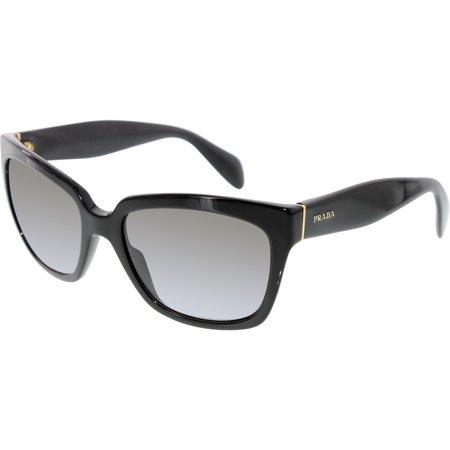 Prada Women's Gradient PR07PS-1AB0A7-56 Black Butterfly Sunglasses