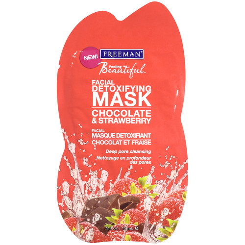Freeman Feeling Beautiful Chocolate & Strawberry Detoxifying Clay Mask, .5 oz
