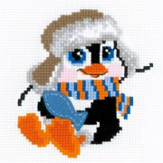 """Penguin Counted Cross Stitch Kit, 6"""" x 6"""" 10 Count"""